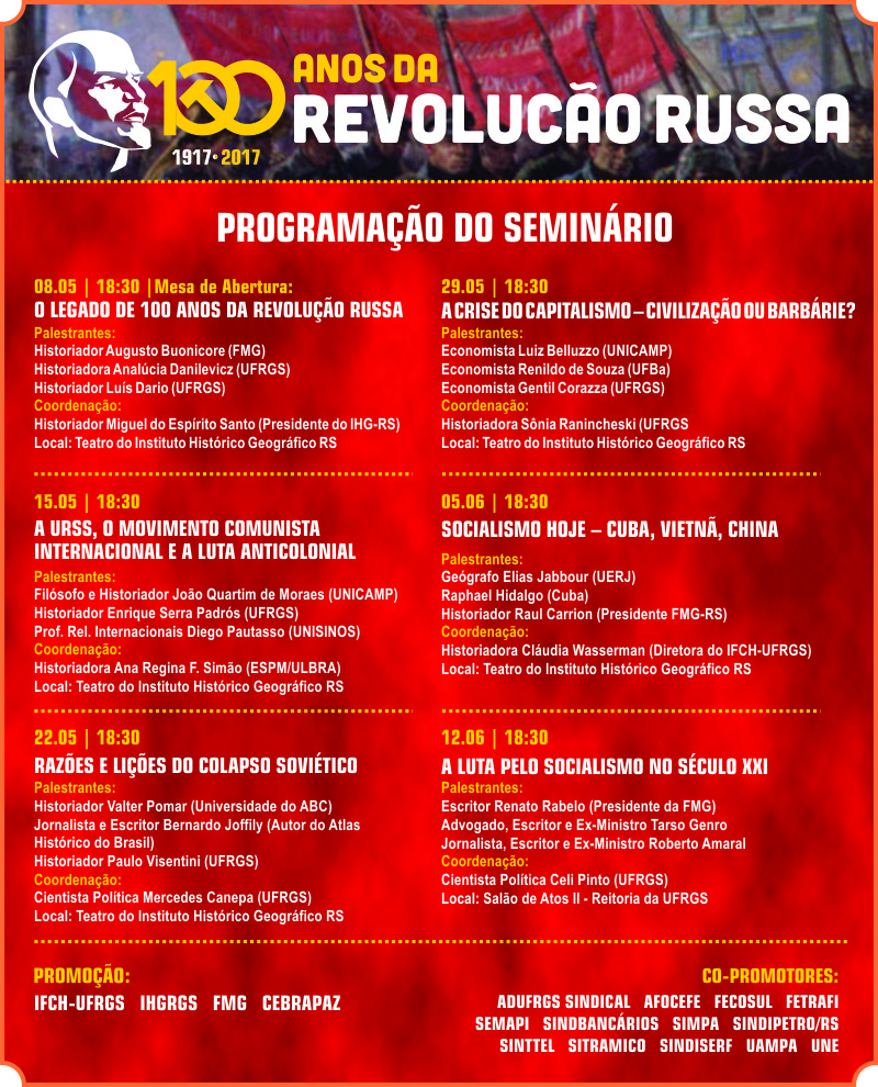 programação seminario RS Revolução Russa
