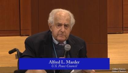 Alfred Marder, presidente do Conselho da Paz dos EUA