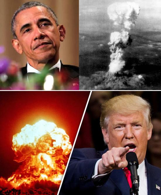 Obama e Trump - modernização armas nucleares
