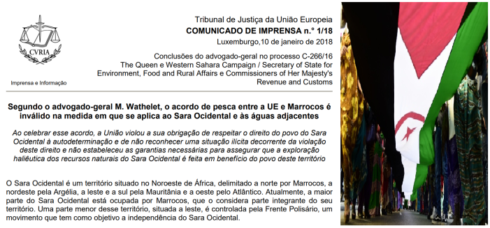 Tribunal Europeu - Saara Ocidental
