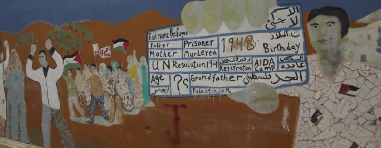 Mural no campo de refugiados palestinos e Aida - Foto MoaraCrivelente2013