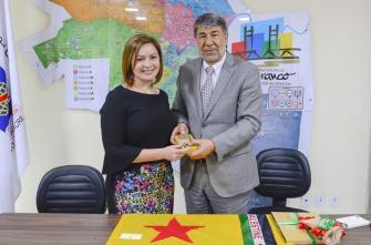 embaixador da Palestina e Prefeita de Rio Bereanco Socorro Neri