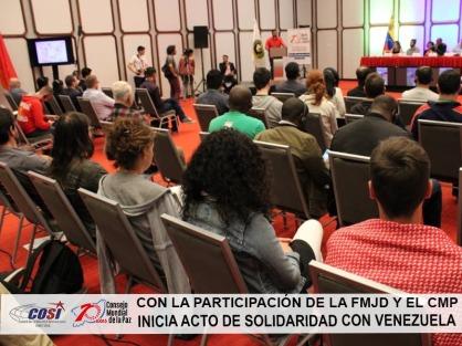 Ato de solidariedade com o povo venezuelano 2019