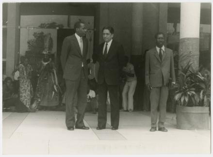 Presidente do CMP e Associação Congolesa de Amizade entre os Povos - 28 de junho de 1974