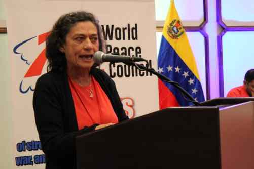 Socorro Gomes Conselho Mundial da Paz Venezuela 2019