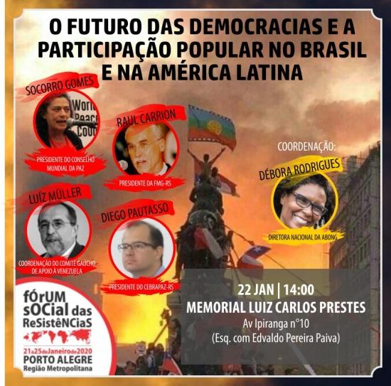 Cartaz mesa FS Resistências 2020