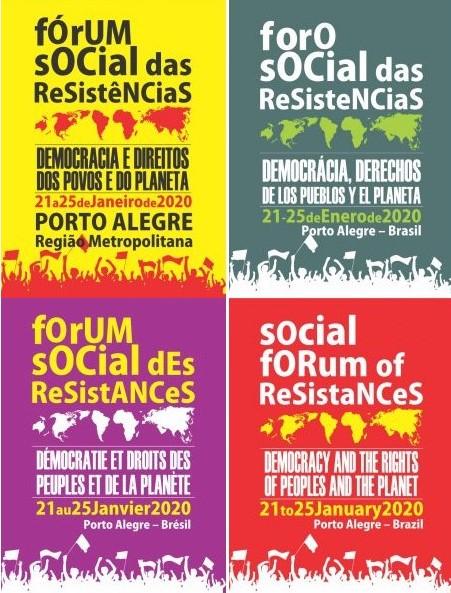 Fórum Social das Resistências 2020 - cartazes