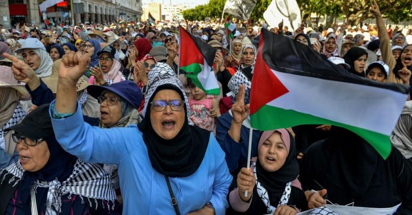 palestinos protestam contra plano de Trump