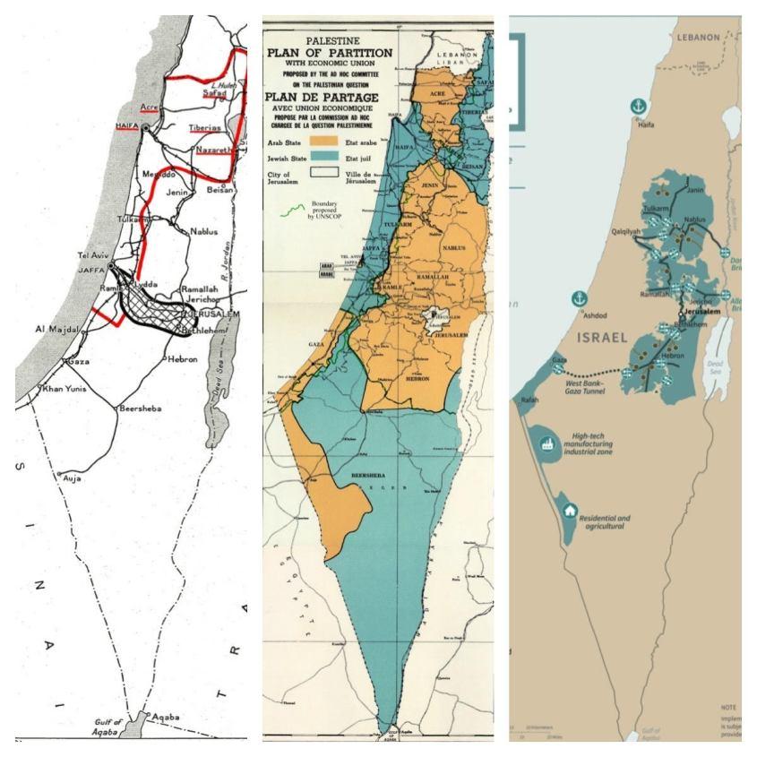 Mapas da Partilha da Palestina